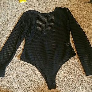NWOT Forever21 long sleeve low back bodysuit